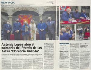 Antonio López abre el palmarés del Premio de las Artes 'Florencio Galindo'