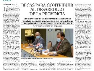 Becas para contribuir al desarrollo de la provincia