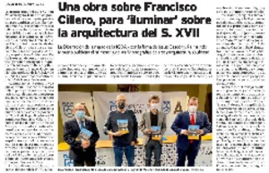 Una obra sobre Francisco Cillero, para 'iluminar' sobre la artitectura del S.XVII