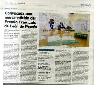 Convocada una nueva edición del Premio Fray Luis de León de Poesía