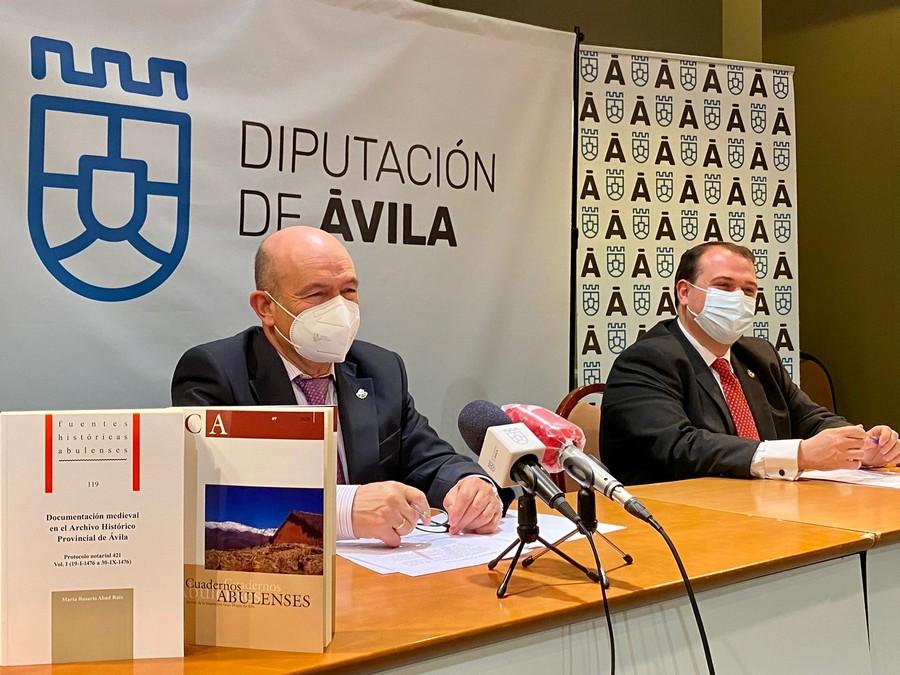 Presentación Cuadernos Abulenses 49 (2020) y Documentación medieval en el Archivo Histórico Provincial de Ávila.